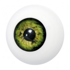 Grimas Artificial Eye plastic application item / Műszem műanyag applikáció, 27 mm Green – Zöld 401, GSFX-EYE-401