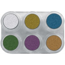 Grimas Water Make-up Metallic Pure face- and bodypaint palette / Metál Arc- és testfesték paletta, 6 x 2,5 ml I6, GWATER-I6