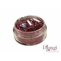 Kristály piros glitter – Diamond FX cosmetic glitter Cristal Red GL16 5 gr