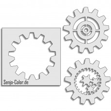 Airbrush Stencil Gear Wheel three-piece set 120 MM
